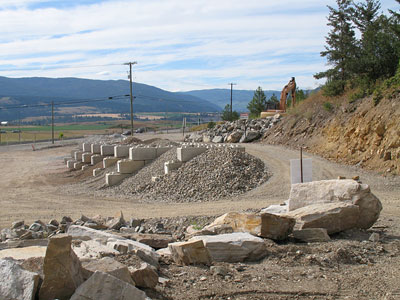 Just soils mulches water feature rock boulders for Landscaping rocks vernon bc